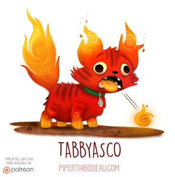 Daily Paint 1539. Tabbyasco by Cryptid-Creations