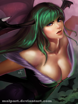 Morrigan Aensland - DarkStalkers by MALPart