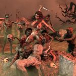 Cavewoman Zombie Hoard by greent64