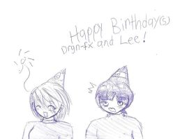 Happy B-Day Drgn-fx and Lee by Tenjilover