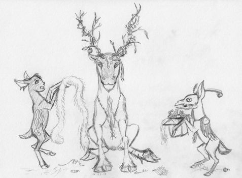Stick Antlers? ...Sticklers? by Pegasicorn