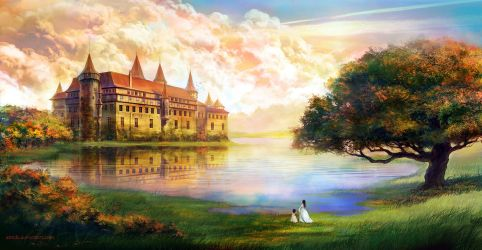 Castle on the lake by anndr