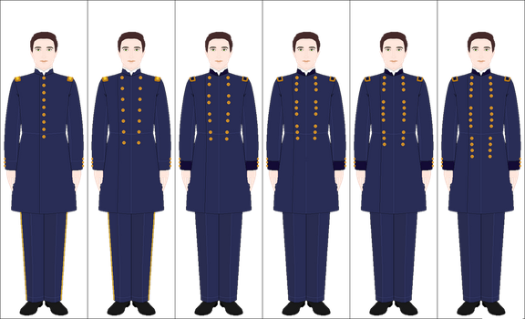 US Army: Officer's blue undress uniform (1852-72) by Arashi-senpai