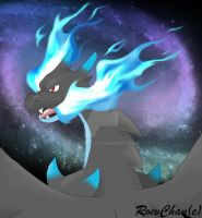 Mega Charizard X by Roev-Art