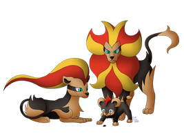 We Are Family - Litleo, Pyroar