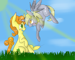 Derpy and Carrot Top by ToothpasteMonitor