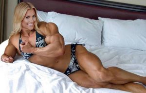 Muscled Blonde in Bed by Turbo99