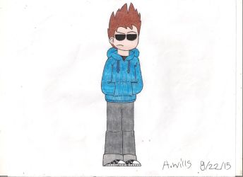 the second time i drew tom from Eddsworld by BlackandRedCynicXD