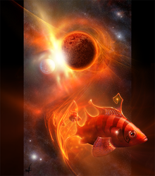 Spacefish incoming by peach