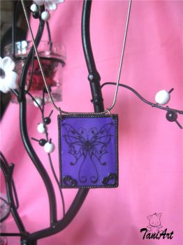 Purple Butterfly pendant by TaniArt