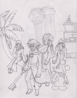 Kingdom Hearts 358/2 Days cover WIP by Dan-Shattered-Heart