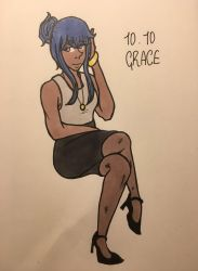grace (OC-tober day 10) by DawnRedd