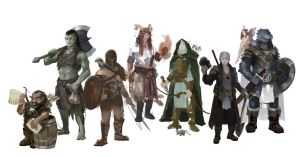 [WIP] Dungeons and Dragons friends characters by Slange5