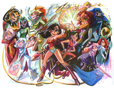 DC Princess Bash by potatofarmgirl