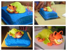 Garfield cake by Cogumelah