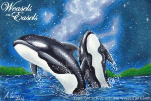 Mother Orca by WeaselsOnEasels