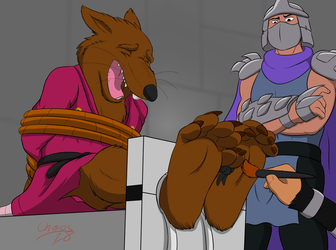 Splinter's Ticklish Interrogation by ChaosGreiga