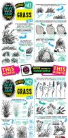 How to draw GRASS tutorial by STUDIOBLINKTWICE