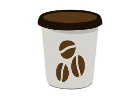 Flat Paper Coffee Cup Vector by superawesomevectors