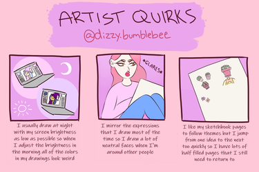 artist quirks by dizzy-bumblebee