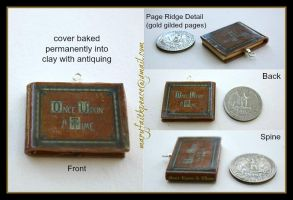 Once Upon A Time Clay Mini Book Pendant by maryfaithpeace
