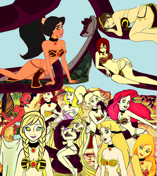Kaa's Twelve Belly Dancing Princesses by hypnotica2002
