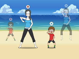Wii Fit Trainer and Villager Body Swap Part 4 by Widowmaker-Evan