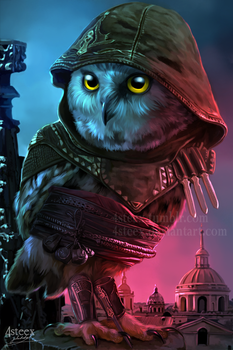 Assassin's Creed - Aguilar owl by 4steex
