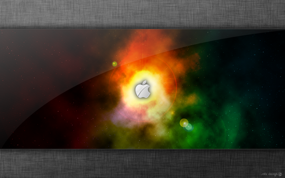 Space Apple by sntxdesign
