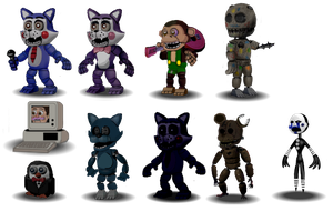 FNaC Accurate Characters by Educraft