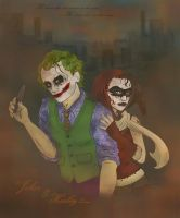 Joker And Harley - Dark Knight by TerylSG