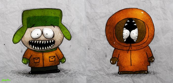 kyle and kenny by berkozturk