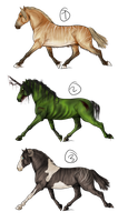 Equine adoptable batch 2 by TheIceViking