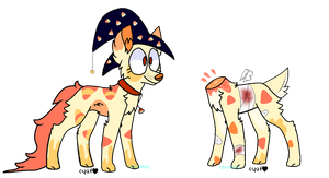 Candy Corn themed Adopt (closed) by Citrusdayz