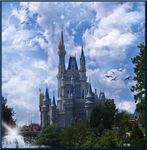 Castle Day Time Fantasy BKG by WDWParksGal