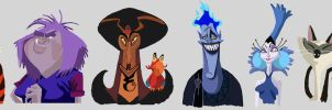 Disney villains by Annamalie
