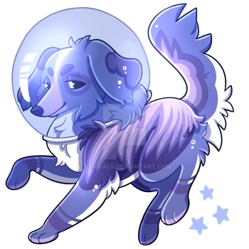 Space Doggo by synicals
