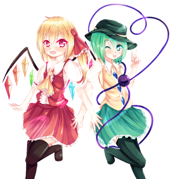 Flandre And Koishi by Aiykawa