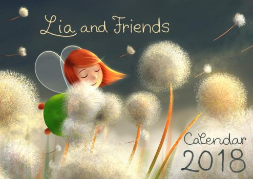 Lia and Friends calendar 2018 by Ansheen