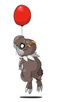 Tyrunt on a balloon