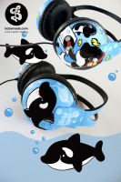 Killer Whale Headphones by Bobsmade