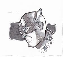 Captain America Warm-Up Sketch by BouncieD