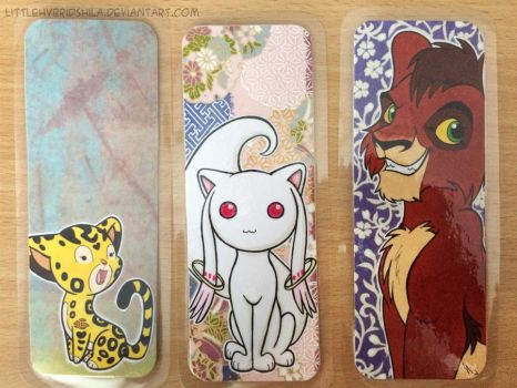 Bookmarks - Kyubey and Lion king by LittleHybridShila