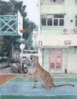 Tiger in the City by YFYeung