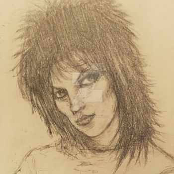 Joan Jett sketch by ScottRoller