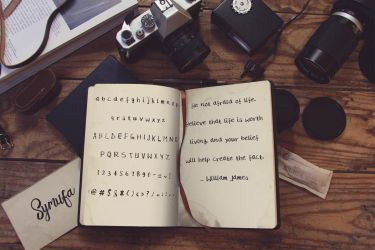 Rough and Dusty Handmade Free Font by symufa