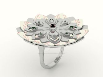 Kirie Ring: Lotus by annielijewellery