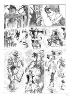 Test pages for the comic Dylan Dog by SimoneDelladio