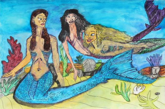 Alantic Mermaid Friends by Dragonfire810