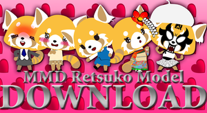 MMD Retsuko model download [V.1.0] by Pikadude31451